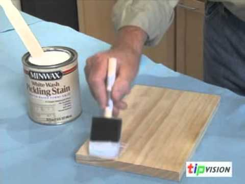 Create A Pickled Finish On Wood With Minwax Youtube