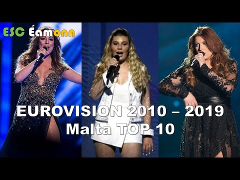 Malta - Eurovision Song Contest – My Top 10 (2010 – 2019)