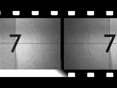 OLD MOVIE COUNTDOWN (v98) film intro with voice and sound effects HD TIMER !!