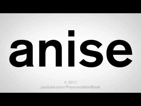 How To Pronounce Anise