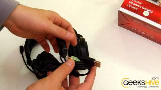 Vibration gaming headset HS-G500V Genius - Unboxing by www.geekshive.com