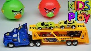 Đồ chơi trẻ em xe o to container chở xe ô tô con - Toys for kids