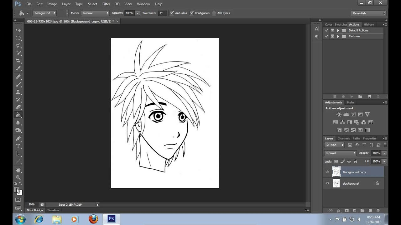 How To Do Color Lineart In Photoshop CS6