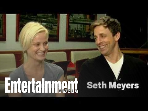SNL's Amy Poehler and Seth Meyers get too close