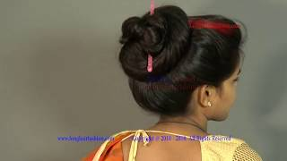 How to Make Tight Big Bun with Thick Shiny Long Hair