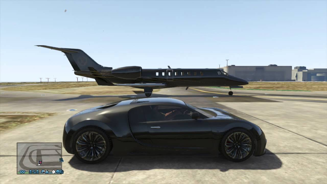 Jet Privato Gta 5 : Gta v ultimate drag races luxor private jet vs adder