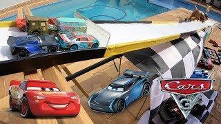 Carros 3 Corrida do Jack DePost na Piscina - Carrinhos de Brinquedos #206