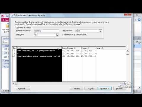 Access - Curso de Access. Importar datos externos