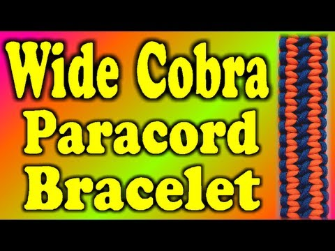 How To Make A Paracord Wide Cobra Knot Bracelet