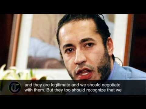 Libya: Saadi Gaddafi calls for peace talks