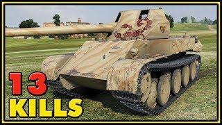 Rheinmetall Skorpion G - 13 Kills - 1 vs 5 - World of Tanks Gameplay