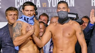 Oleksandr Usyk vs. Tony Bellew FULL WEIGH IN & FINAL FACE OFF | Matchoom Boxing