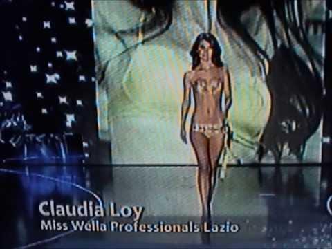 Claudia Loy,Miss Wella Lazio,Miss Cinema,Top 20 at Miss Italia 2009.Bikini Catwalks