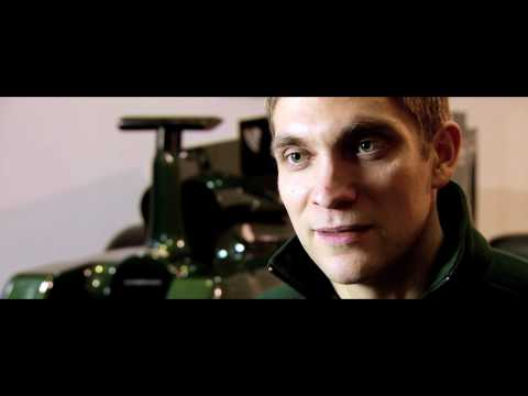 Vitaly Petrov's first day at Caterham F1