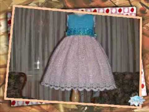 Crochet Pattern Children Dress - Tiffany Sparkling Topaz Ensemble