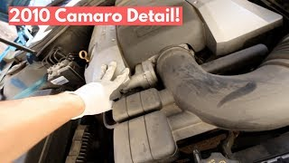 Engine Cleaning, Full Interior Cleaning, and Wash on 2010 Camaro - Auto Detailing Tips