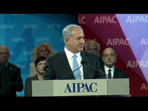 Watch Benjamin Netanyahu's Surprise AIPAC Shout Out to Actress Scarlett Johansson