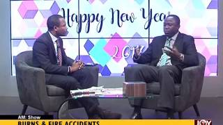 Burns and Fire Accident - AM Show on Joy News (3-1-17)