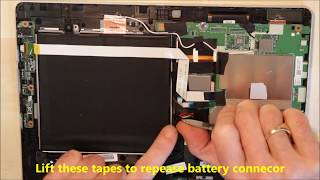 Dismantle Acer Switch 10 2in1 Tablet unit, replace touchscreen etc