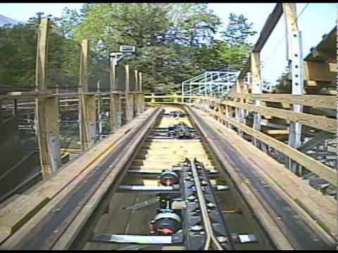 Ravine Flyer II 2 Wooden Roller Coaster Front Seat POV Waldameer Park