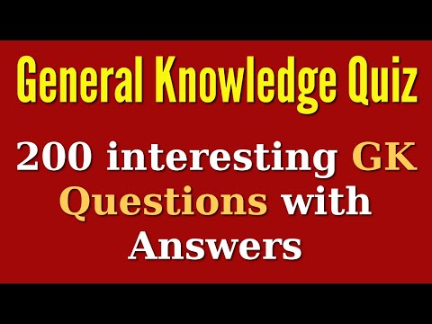 General Knowledge (GK) Quiz Questions and Answers
