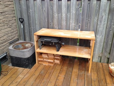Making a table from old handrails