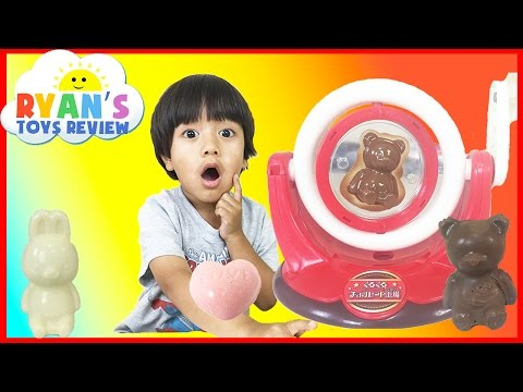Ryan reviews DIY Japanese Chocolate Maker Toy!