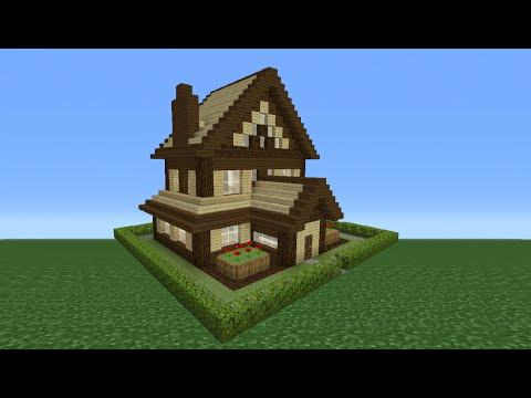 Minecraft Tutorial: How To Make A Wooden House - 15