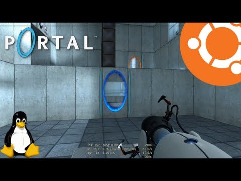 Portal Gameplay on Ubuntu 13.04 Linux (Native)