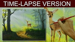 Time-Lapse Version | The Young Deer | Acrylic Painting by JM Lisondra