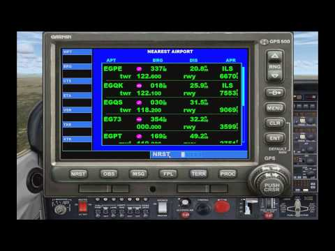 FSX Tutorial: GPS Navigation (Comprehensive Garmin GPS 500 Guide)