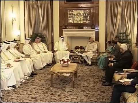Emir of Qatar Sheikh Tamim bin Hamad Al Thani meets PM Modi