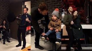Marina Squerciati Snapchat | Ft Patrick Flueger, Jesse Lee Soffer and Laroyce | February 24 2017