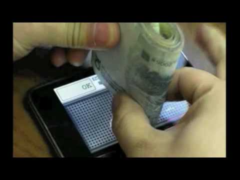 Currency-counting machine on iPhone