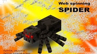 Spiderweb spinning spiders in Minecraft 1.8