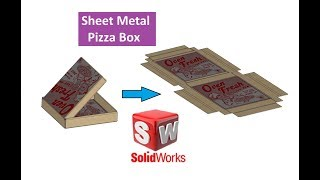 SolidWorks Tutorial: Pizza Box design in SolidWorks Sheet Metal