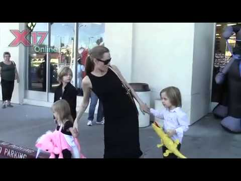 Angelina Jolie Takes The Kids Halloween Shopping