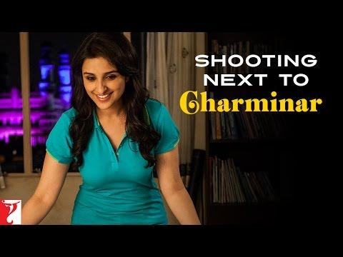 Shooting Next To Charminar - Daawat-e-Ishq