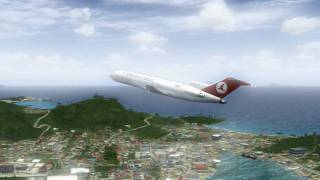 Turkish Cargo Takeoff from TNCM St. Maarten and Landing at little runway