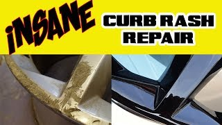 Insane Curb Rash Alloy Wheel  Refurbish - RESTORATION