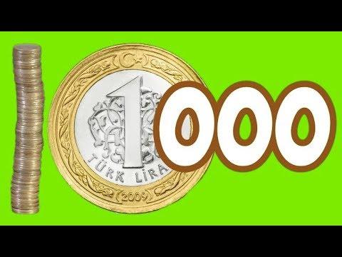 1000 Tane 1 TL ile Kule Yapma Yarışması