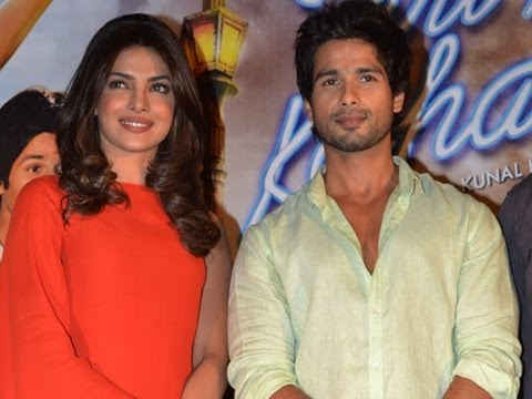 Shahid & Priyanka At The First Look Launch Of Teri Meri Kahaani