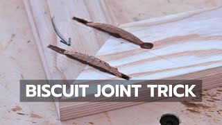 BISCUIT JOINT TRICK: You've Probably Never Seen This Before