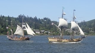 Tall ships, Lady Washington, Hawaiian Chieftain, Coos Bay, Oregon