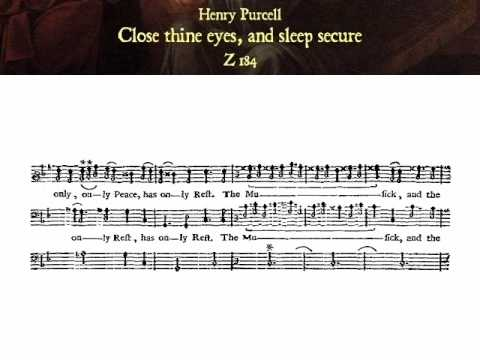 Пёрселл Генри - Close thine eyes and sleep secure