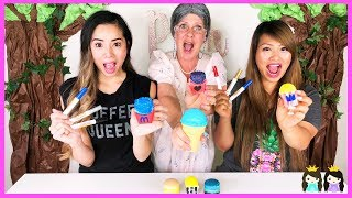 3 Marker Squishy Challenge with Princess ToysReview and Greedy Granny