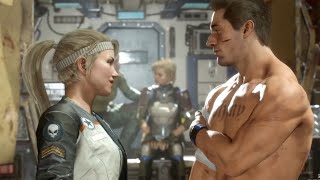 MORTAL KOMBAT 11 - Johnny Cage & Sonya From Past Fall In Love (MK11 2019) PS4 Pro