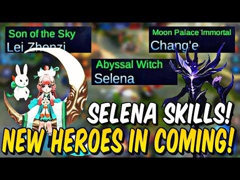 NUEVOS HEROES Y HABILIDADES! Selena, Chang'e y Lei Zhenzi! Mobile Legends!