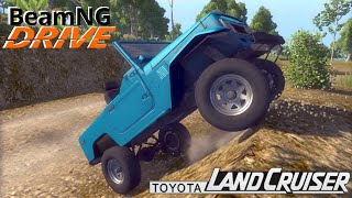 BeamNG DRIVE crash test mod SUV 1980 Toyota Land Cruiser j40