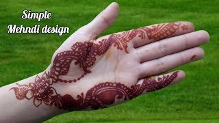 Gorgeous mehendi design front hand    simple mehndi design for hands step by step
